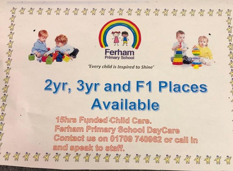 Early years places available