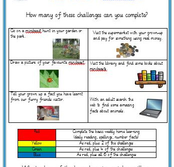 Y1/2 Home Learning