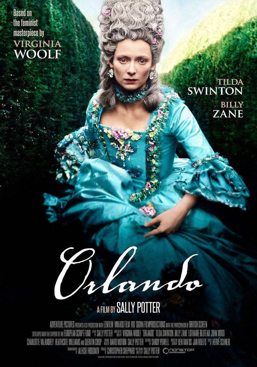 A poster from the 1992 film adaptation of Orlando
