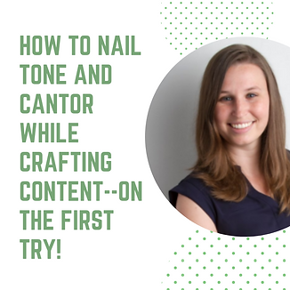 How to Nail Tone and Cantor While Crafti