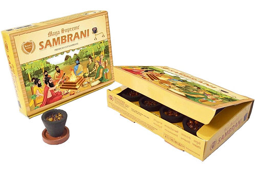 Koyas Maya Supreme sambrani Cup sambrani Pack of-5