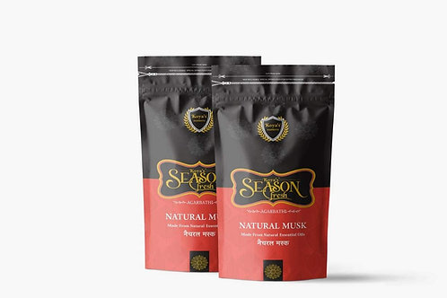 Koyas Natural Musk Zipper Premium Incense Sticks (Zipper Pouch) Pack of-5