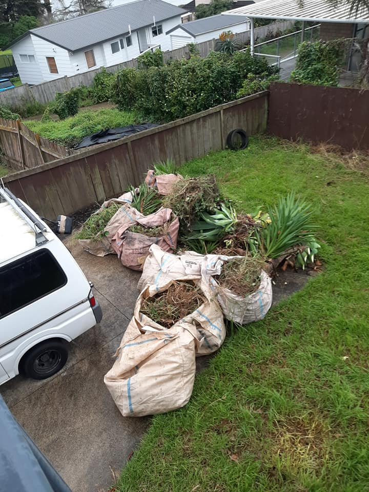 Green waste ready to go