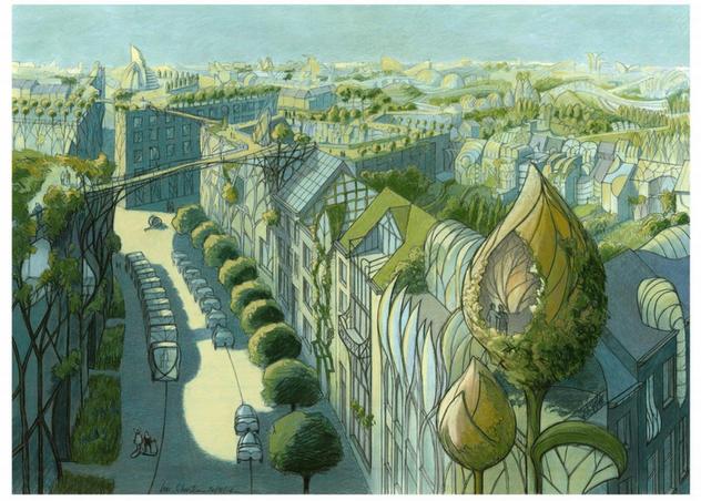 Les Cités Végétales de Luc Schuiten, de l'Utopie à la Réalité