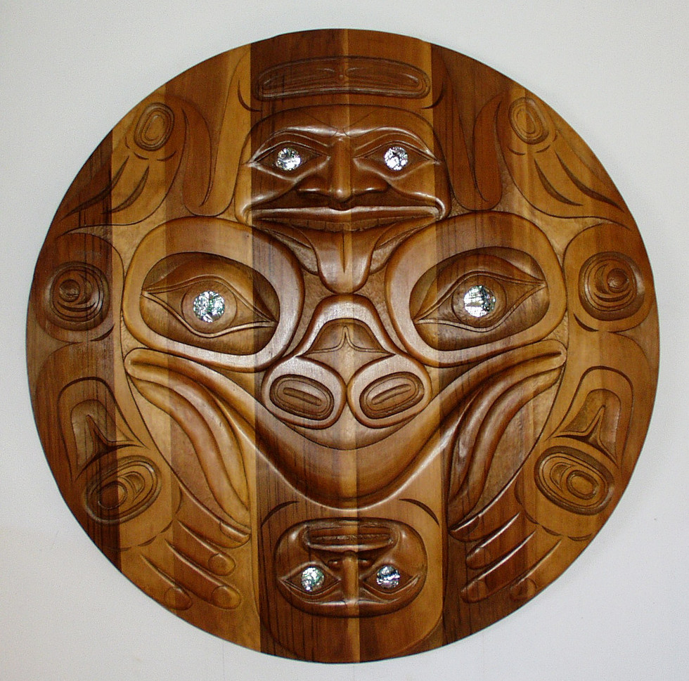 Private Commission | Carved Frog Panel