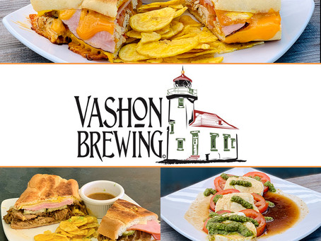 Now Delivering Pub Bites from Vashon Brewing Community Pub!