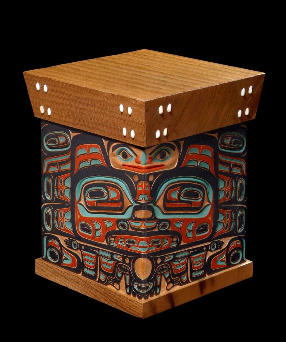 Bear Bentwood Box