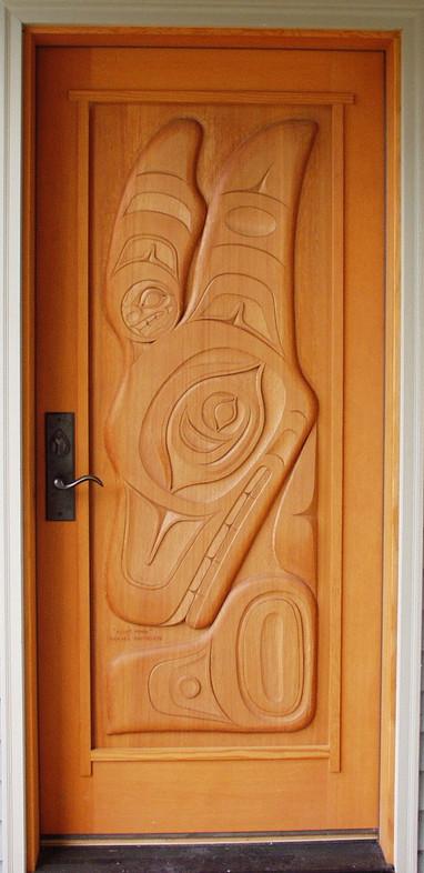 Killer Whale Carved Door