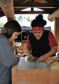 Teaching Young Tlingit Member