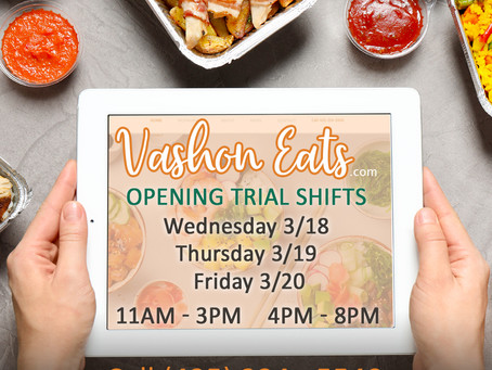 Vashon Eats Trial | Launches Wednesday March 18th 2020!