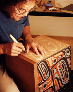 Carving Bentwood Box