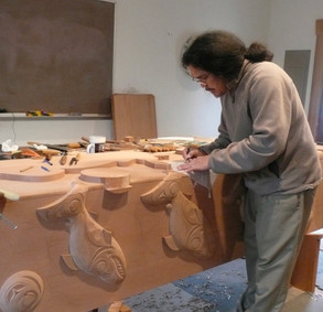Carving Cedar Panel