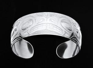 Bear Frog Sterling Silver Bracelet