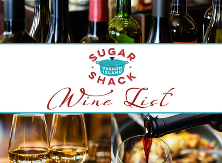 New Wine Announcement   Wine List from Sugar Shack!