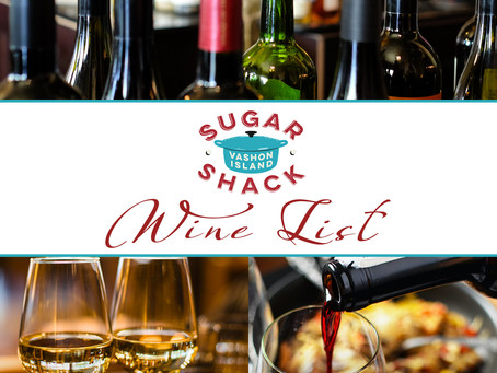 New Wine Announcement | Wine List from Sugar Shack!