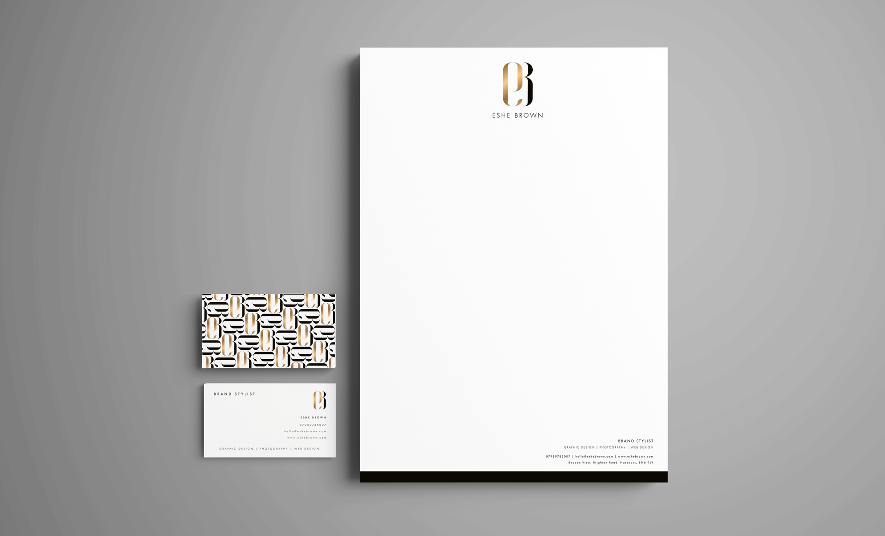 Letter head & business card design