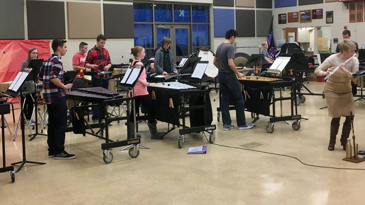 PHSN Percussion Ensemble at OMEA
