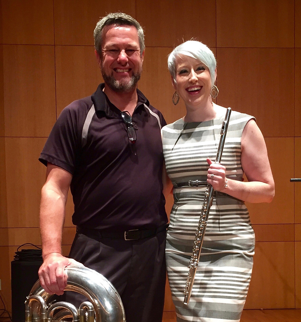 Lindsey with composer and tubist Tony Zilincik