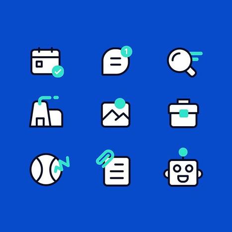 Blue remix icons - hope you like ;) #gra