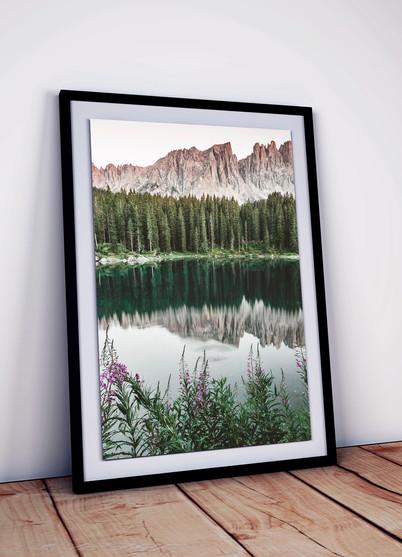 karersee-sonnenuntergang-bergsee-spiegel