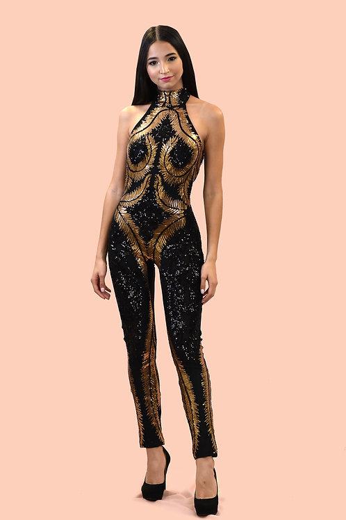 Gold Fern Jumpsuit