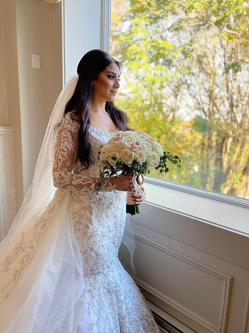 Dina trumpet bride dress