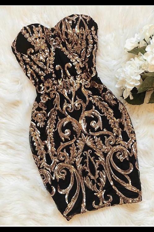 Lace sequin dress
