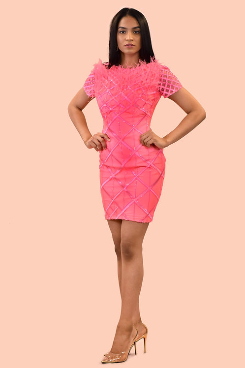 Neon Pink party dress