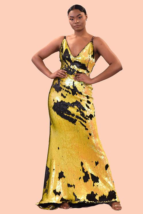 Bee reversible sequin dress