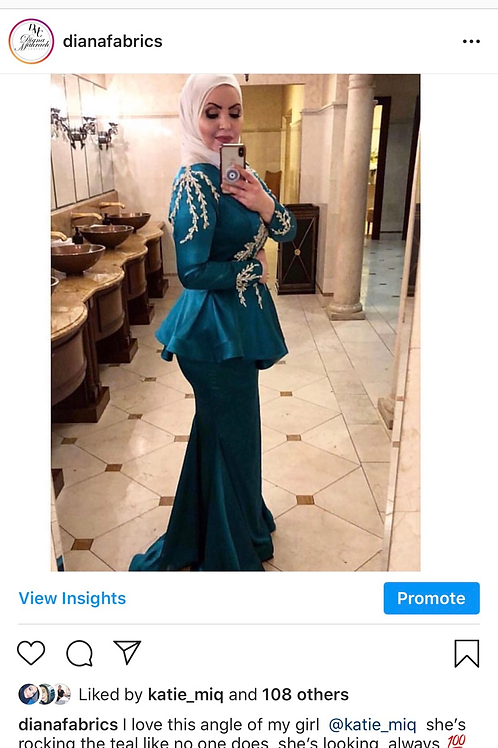 Katie trumpet dress