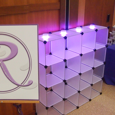 rebecca's 'lavender candy girl' bat mitzvah signing board and cubbies