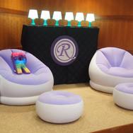 rebecca's 'lavender candy girl' bat mitzvah lounge décor