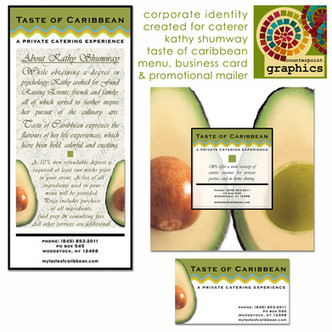 taste of caribbean promotional materials & business card