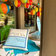 mitchell's 'poolparty' bar mitzvah signing pillow
