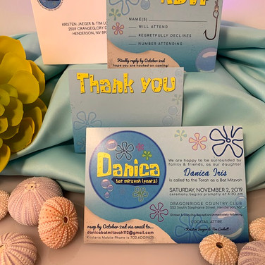danica's 'bat mitzvah (pants) bat mitzvah invitation suite