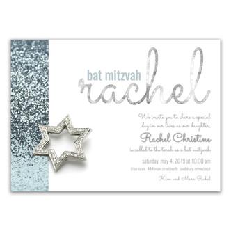 rachel's 'icy cool sparkle' invitation