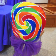 rebecca's 'lavender candy girl' bat mitzvah candy chair cover