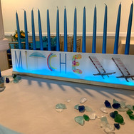 mitchell's 'poolparty' bar mitzvah candle-lighting