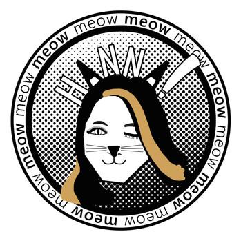 hanna's 'cat's meow' bat mitzvah logo