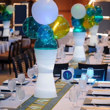 ethan's club 'e' bar mitzvah centerpieces