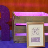 rebecca's 'lavender candy girl' bat mitzvah décor