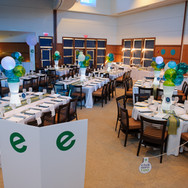 ethan's club 'e' bar mitzvah party décor