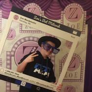 zoe's 'broadway bound' bat mitzvah photo booth backdrop / ste & repeat banner / selfie frame