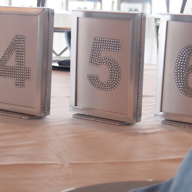 rachel's 'icy cool sparkle' bat mitzvah table numbers
