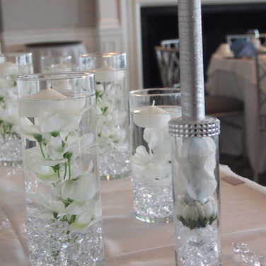 rachel's 'icy cool sparkle' bat mitzvah candle-lighting
