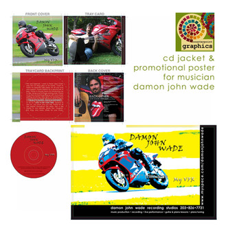 damon wade musician cd jacket & promotional poster