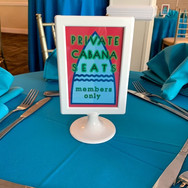 mitchell's 'poolparty' bar mitzvah signage