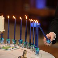 ethan's club 'e' bar mitzvah candle-lighting