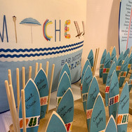 mitchell's 'poolparty' bar mitzvah décor