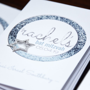 rachel's 'icy cool sparkle' bat mitzvah service program